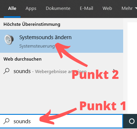 Windows 10 Systemsounds deaktivieren